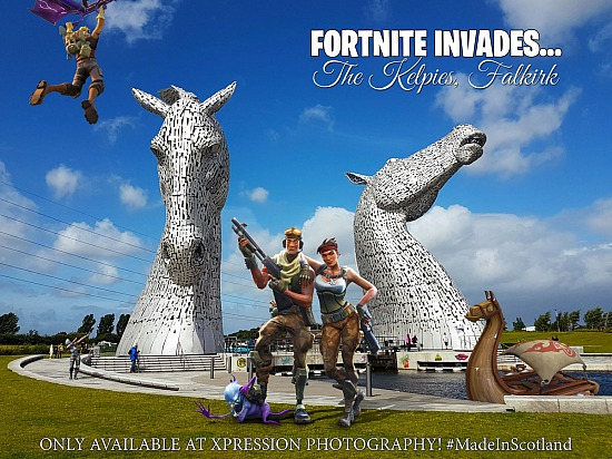 Fortnite Invades - The Kelpies